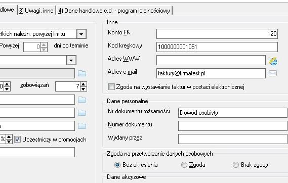 wf-mag EksportFV dane wysyłkowe firmy