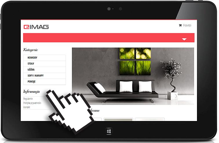 podgląd witryny responsywnej na tablecie