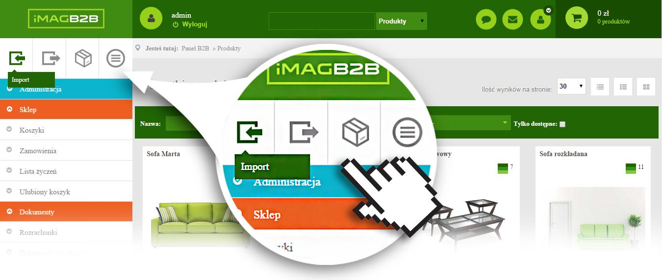 IMAG B2B - Import, Export, Zamówienia, Produkty